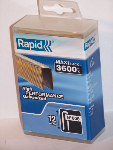 Tackerklammern  Rapid  Typ 606      12 mm 3600  Stück in Plastic-Box