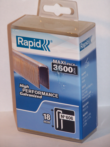 Tackerklammern  Rapid  Typ 606      18 mm 3600  Stück in Plastic-Box