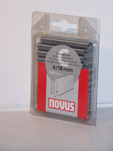 Novus  Tackerklammern  Typ 606/C    18 mm  4/18mm